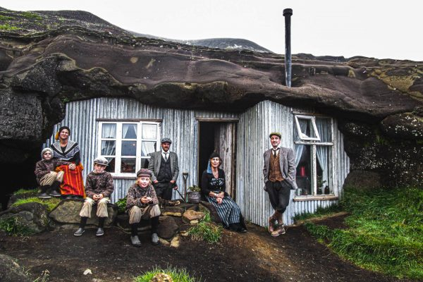 The Cave People out of the house in Iceland
